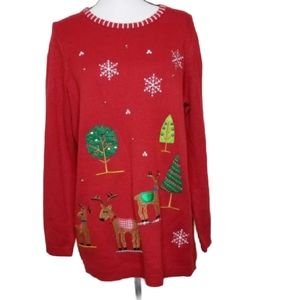 WHITE STAG UGLY CHRISTMAS SWEATER